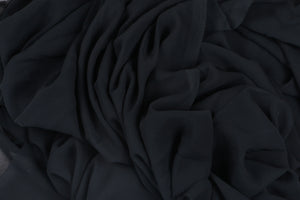 Plain Georgette - Black - 5 Yard Piece