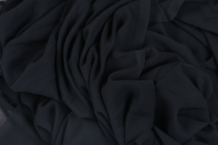 Georgette - Black - 5 Yard Piece