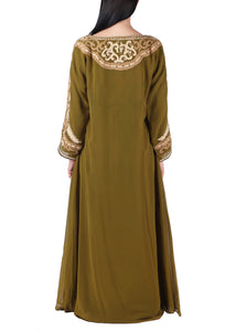 Kaftan Design # 7147 - Olive Green