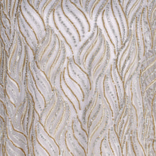 Load image into Gallery viewer, Hand Embroidered Fabric Design # 4114 - Pure White - 5 Yard Piece