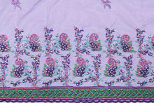 Load image into Gallery viewer, Hand Embroidered Blouse Design # 3300 - Purple - 1.7 Yards