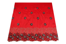 Load image into Gallery viewer, Hand Stoned George Wrapper Design # 6707 - Red - With Blouse