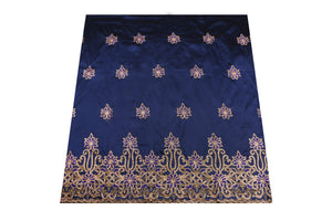 Hand Stoned George Wrapper Design # 6731 - Navy Blue - With Blouse