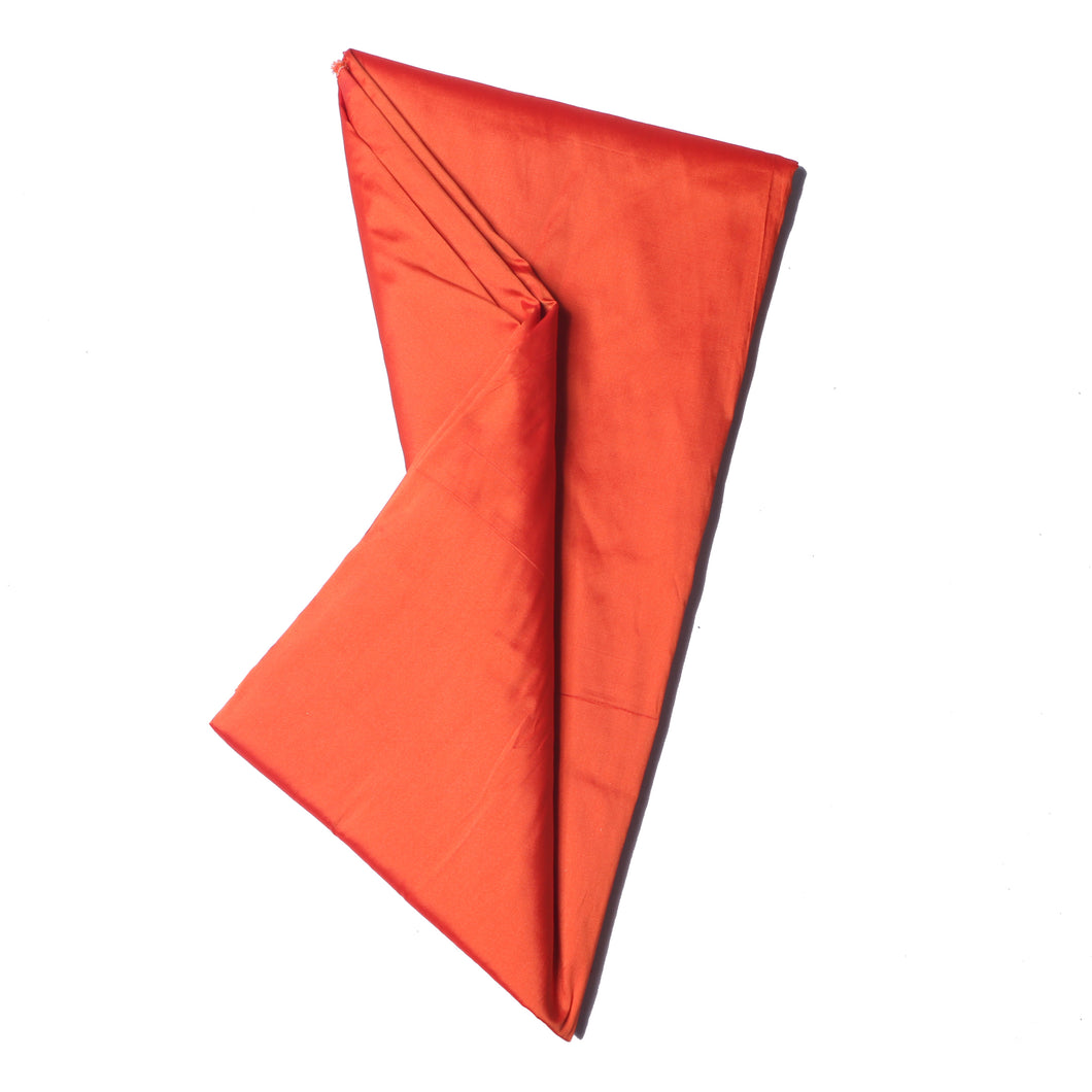 Plain Silk Taffeta - Burnt Orange - 5 Yard Piece