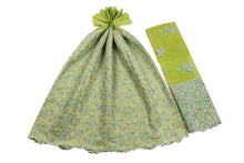 Load image into Gallery viewer, Hand Stoned George Wrapper Design # 6745 - Lime Green - With Blouse