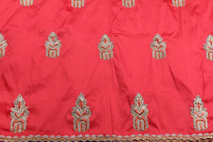 Hand Stoned George Wrapper Design # 6652 - Coral - With Blouse