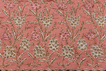 Load image into Gallery viewer, Hand Stoned George Wrapper Design # 6728 - Dusty Pink - With Blouse