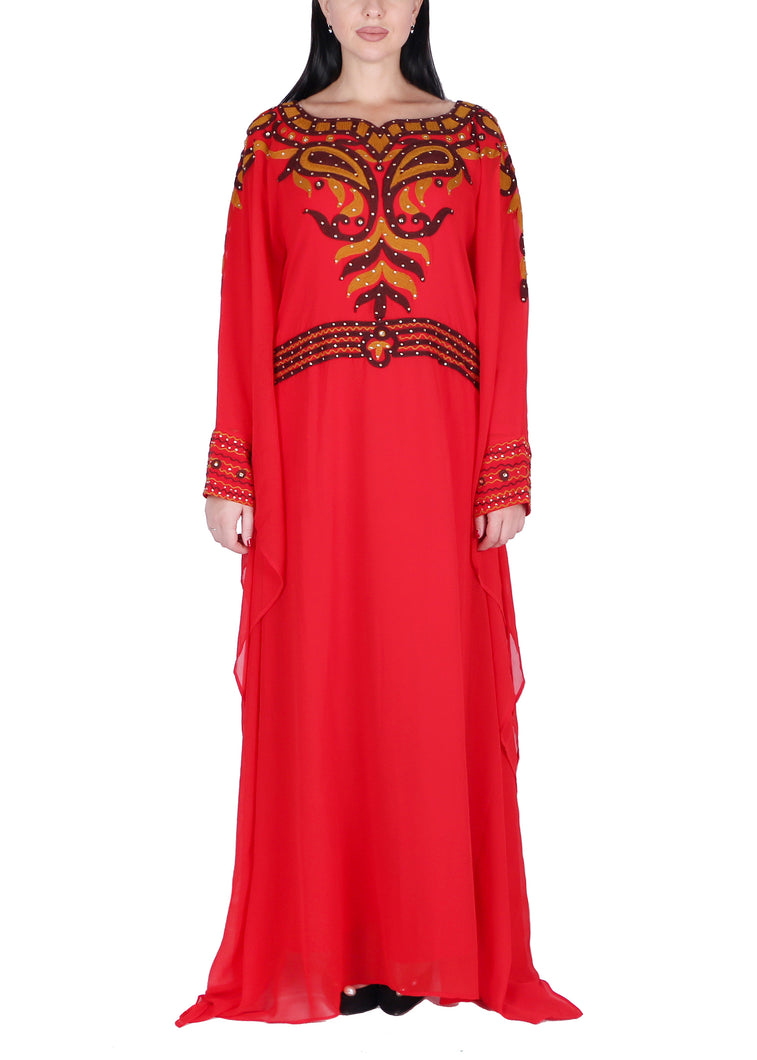 Kaftan Design # 1038 - Red