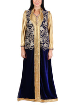 Load image into Gallery viewer, Kaftan Design # 7188 - Navy Blue - Free Size