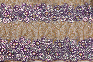 Hand Stoned George Wrapper Design # 6707 - Cream - With Blouse