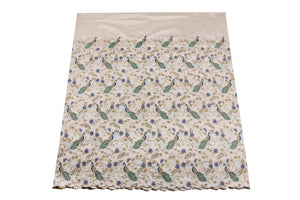 Hand Stoned George Wrapper Design # 6734 - Cream - With Blouse