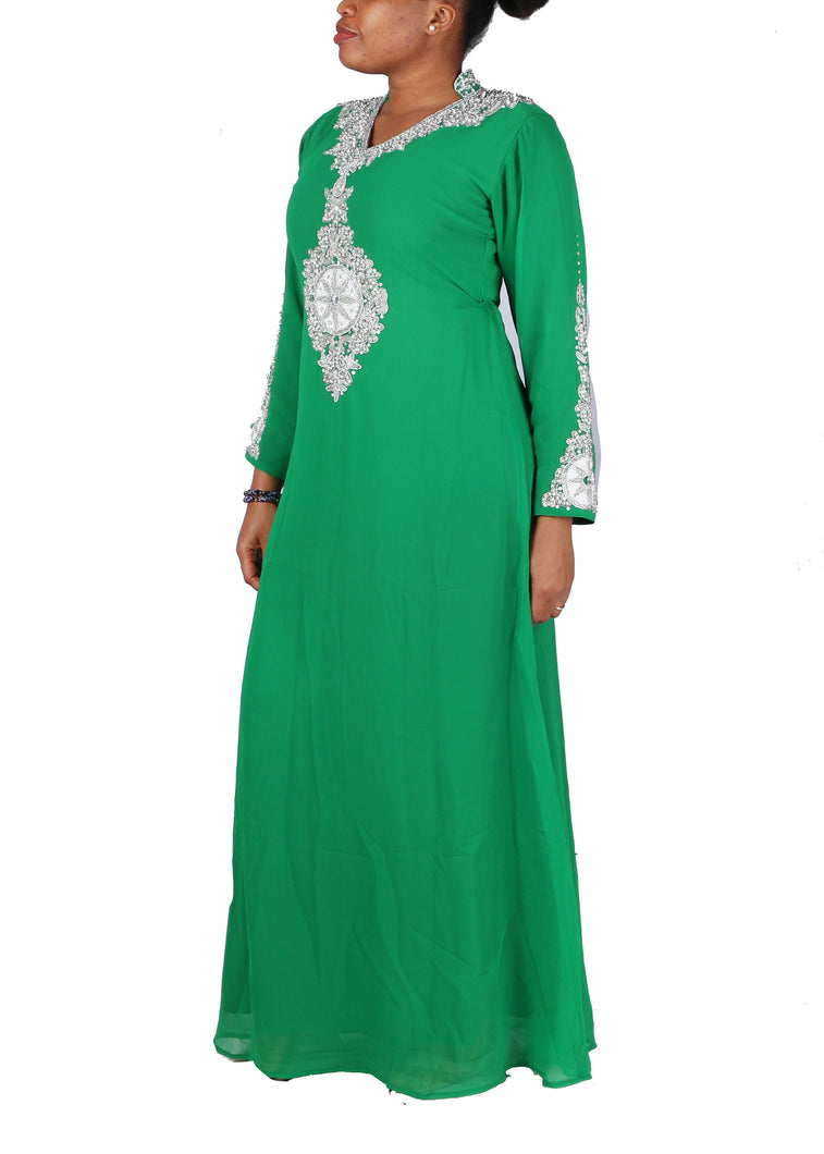 Kaftan Design # 7046 - Pure Green