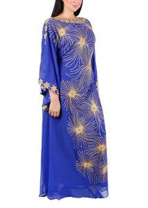 Kaftan Design # 7204 - Royal Blue - Free Size