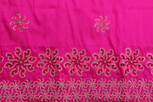 Load image into Gallery viewer, Hand Stoned George Wrapper Design # 6550 - Fuchsia Pink - With Blouse