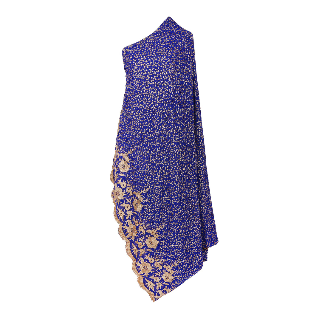 Wrap Around Scarf  Design # 2006 - Royal Blue - 5 Yard Piece