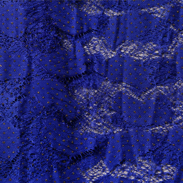 Supreme Lace Design # 3001 - Royal Blue - 5 Yard Piece