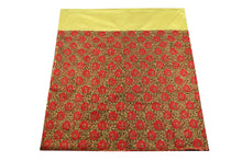 Load image into Gallery viewer, Machine Embroidered George Wrapper Design # 7429 - Yellow - With Blouse