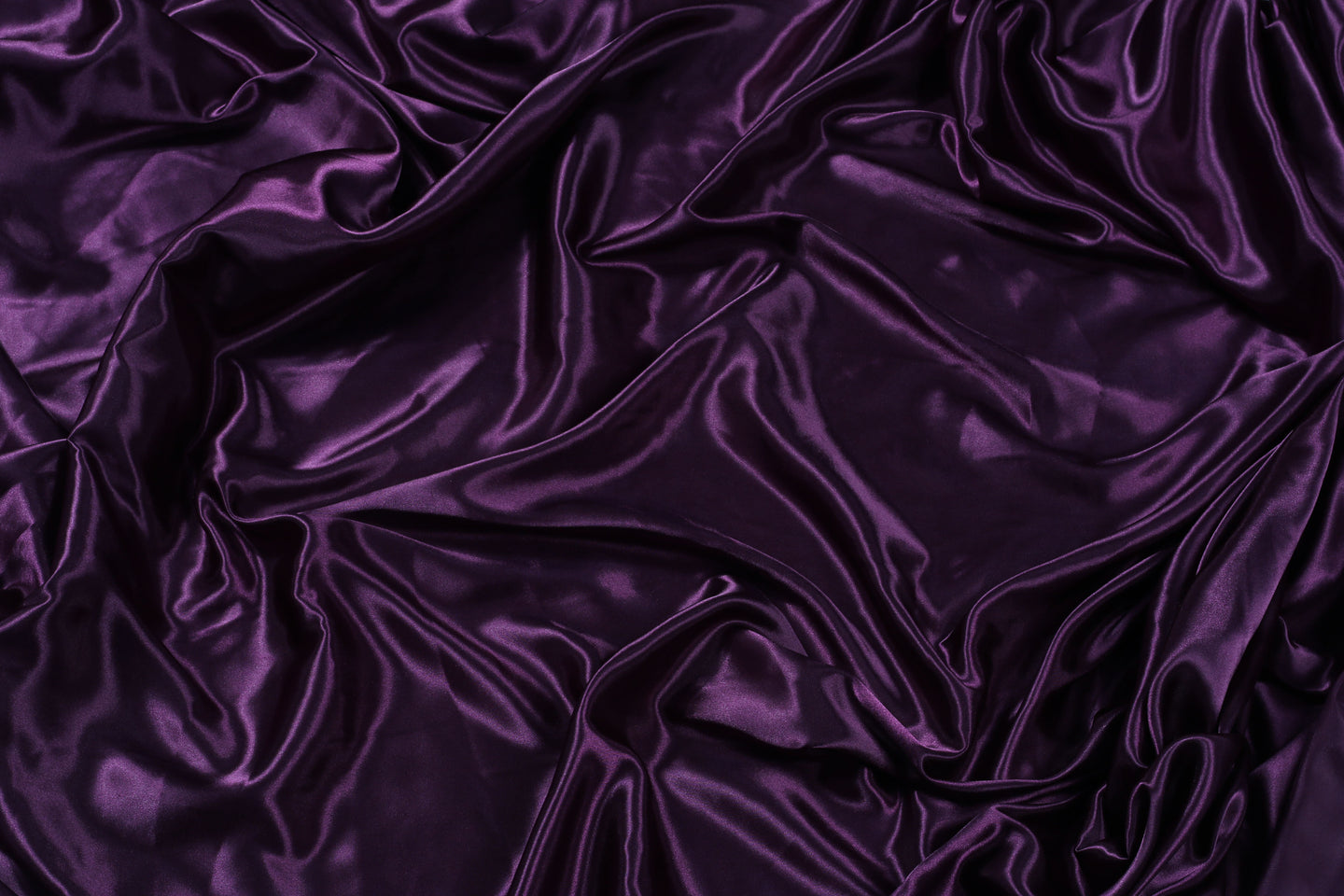 Plain Silk Satin - Eggplant - 5 Yard Piece