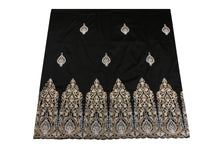 Load image into Gallery viewer, Hand Stoned George Wrapper Design # 6650 - Black - With Blouse