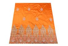 Load image into Gallery viewer, Hand Stoned George Wrapper Design # 6650 - Orange - With Blouse