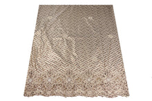 Load image into Gallery viewer, Hand Embroidered George Wrapper Design # 9642 - Champagne Gold - With Blouse