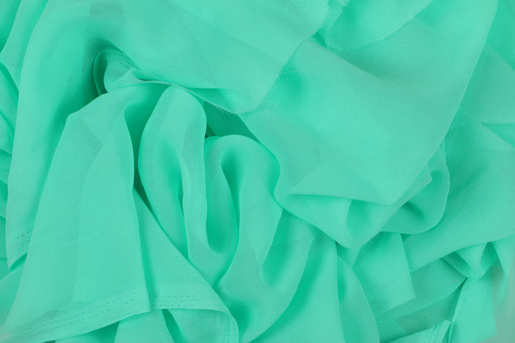 Georgette - Aqua Blue - 5 Yard Piece