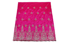Load image into Gallery viewer, Hand Stoned George Wrapper Design # 6545 - Fuchisa Pink - With Blouse