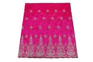 Hand Stoned George Wrapper Design # 6545 - Fuchisa Pink - With Blouse