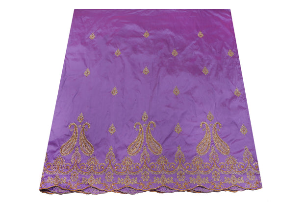 Hand Stoned George Wrapper Design # 6688 - Lilac - With Blouse