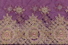 Load image into Gallery viewer, Hand Embroidered Blouse Design # 3370 - Purple - With Blouse - 1.7 Yards