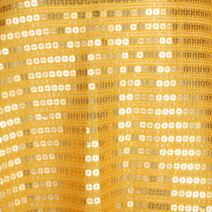 Machine Embroidered Fabric Design # 4130 - Yellow - Per Yard