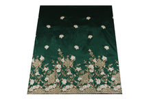 Load image into Gallery viewer, Hand Stoned George Wrapper Design # 6711 - Pure Green - With Blouse
