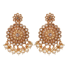 Load image into Gallery viewer, Golden Circle Earrings - Design # 7054