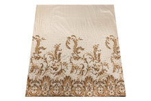 Load image into Gallery viewer, Hand Embroidered George Wrapper Design # 9617 - Cream - With Blouse