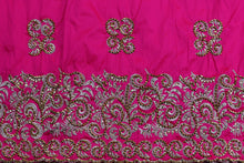 Load image into Gallery viewer, Hand Stoned George Wrapper Design # 6647 - Fuchsia Pink - With Blouse