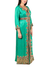 Load image into Gallery viewer, Kaftan Design # 7189 - Aqua Green - Free Size