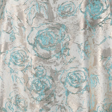 Load image into Gallery viewer, Jacquard Fabric Design # 1005 - Aqua Blue - Per Yard