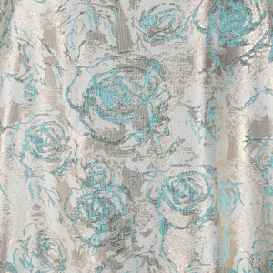 Jacquard Fabric Design # 1005 - Aqua Blue - Per Yard