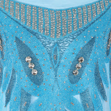 Load image into Gallery viewer, Bespoke Blouse Design # 3016 - Sky Blue - 1.75 Yards