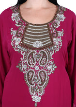 Load image into Gallery viewer, Kaftan Design # 7052 - Magenta