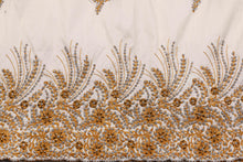 Load image into Gallery viewer, Hand Stoned George Wrapper Design # 6730 - Cream - With Blouse