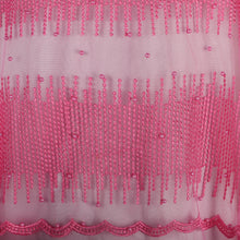 Load image into Gallery viewer, Machine Embroidered Fabric Design # 4027- Baby Pink - With Pearls - 5 Yard Piece