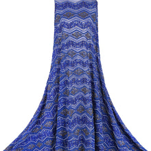 Load image into Gallery viewer, Hand Embroidered Fabric Design # 4103 - Royal Blue - Per Yard
