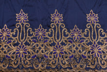 Load image into Gallery viewer, Hand Stoned George Wrapper Design # 6731 - Navy Blue - With Blouse