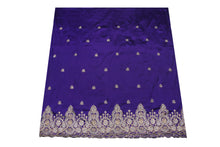 Load image into Gallery viewer, Hand Stoned George Wrapper Design # 6509 - Purple - With Blouse