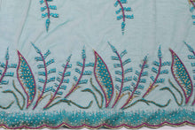 Load image into Gallery viewer, Hand Embroidered Blouse Design # 3253 - Pure Green - 1.7 Yards