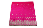 Machine Embroidered George Wrapper Design # 7399 - Fuchsia Pink - With Blouse