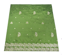 Load image into Gallery viewer, Machine Embroidered George Wrapper Design # 7061 - Nigeria Green - Without Blouse