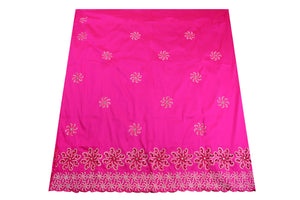 Hand Stoned George Wrapper Design # 6550 - Fuchsia Pink - With Blouse