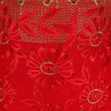 Load image into Gallery viewer, Wrap Around Scarf  Design # 2003 - Red - 5 Yard Piece